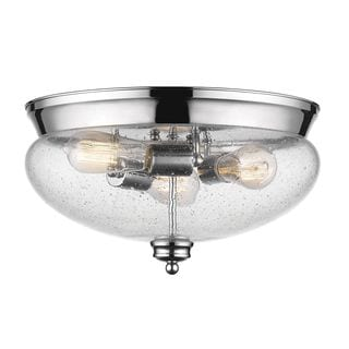 Z-Lite 3-Light Flush Mount in Chrome