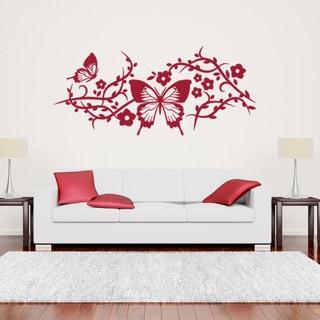 Butterfly Mesh Wall Decal Sticker Mural Vinyl Decor Wall Art