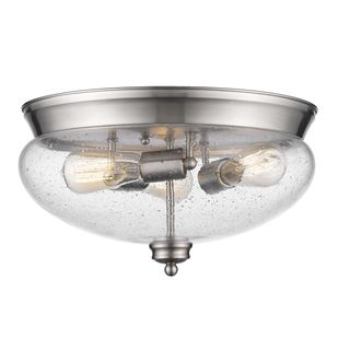 Z-Lite 3-Light Flush Mount in Brushed Nickel