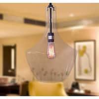 Love 1-light Adjustable Cord Glass Pendant Includes Edison Bulb
