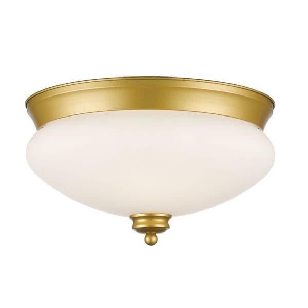 Avery Home Lighting 2-light Flush Mount in Satin Gold