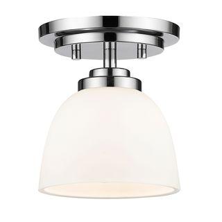 Link to Avery Home Lighting 1-Light Flush Mount in Chrome Similar Items in Flush Mount Lights