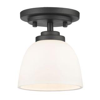 Avery Home Lighting 1-Light Flush Mount in Bronze