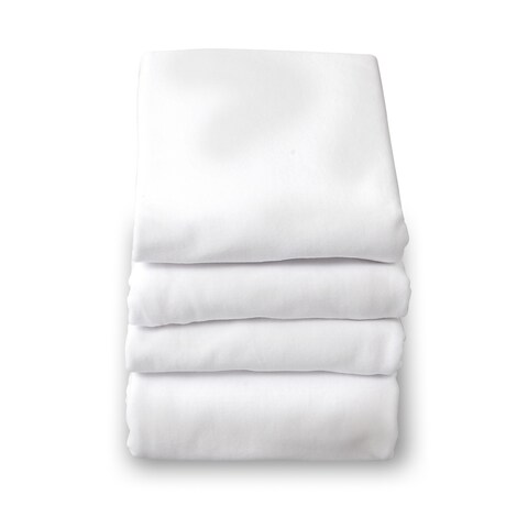 SafeFit Elastic Compact-Size White Fitted Sheet (Pack of 2)