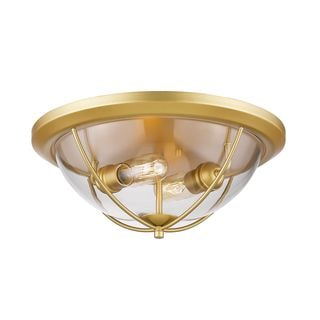 Z-Lite 2-Light Flush Mount in Satin Gold