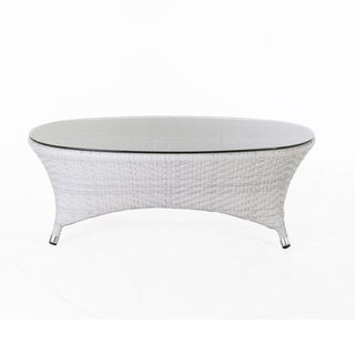 Hans Andersen Home Danica Outdoor Coffee Table W/ Clear Glass Top