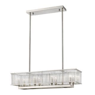 Z-Lite Zalo 8-light Pendant in Brushed Nickel