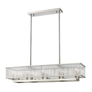 Z-Lite Zalo 10-light Pendant in Brushed Nickel