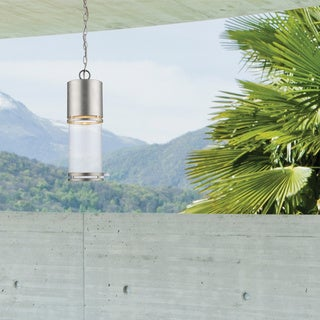 Z-Lite Luminata Outdoor LED Chain Hung Light in Brushed Aluminum