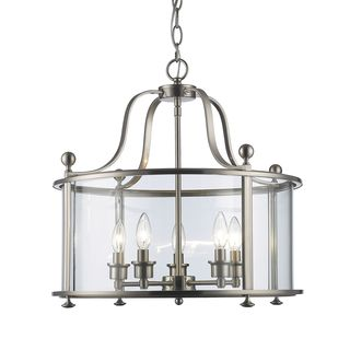 Z-Lite Wyndham 5-light Pendant in Brushed Nickel