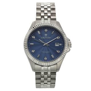 Croton Men's CN307528SSBL Stainless Steel Silvertone Diamond Marker Watch https://ak1.ostkcdn.com/images/products/11190648/P18182147.jpg?impolicy=medium