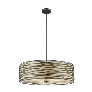 Z-Lite Zinnia 4-light Pendant in Bronze