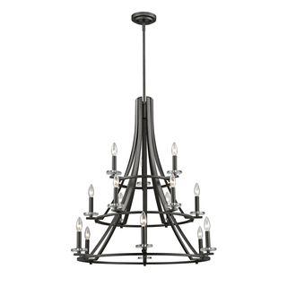 Z-Lite Verona 15-light Chandelier in Brushed Nickel