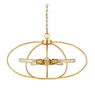 Z-Lite Persis 5-light Pendant in Satin Gold