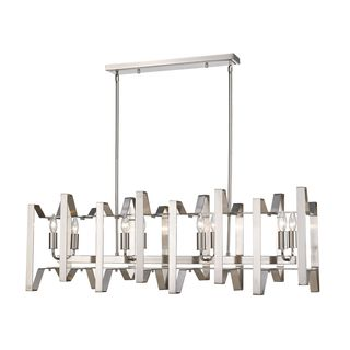 Z-Lite Marsala 8-light Island Light in Brushed Nickel