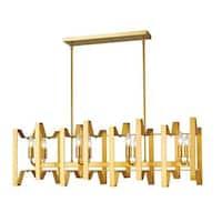 Avery Home Lighting Marsala 8-light Island Light in Polished Metallic Gold