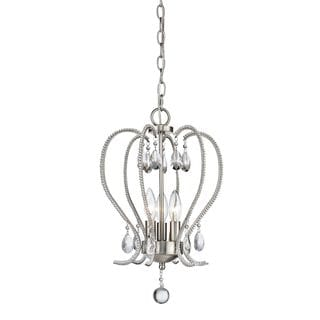 Z-Lite Serenade 3-light Chandelier in Brushed Nickel