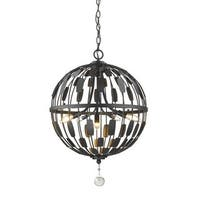 Avery Home Lighting Almet 5-light Pendant in Bronze