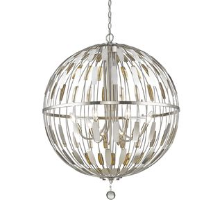 Z-Lite Almet 8-light Pendant in Brushed Nickel