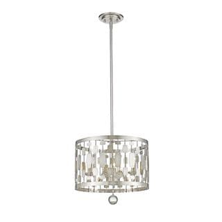 Z-Lite Almet 3-light Pendant in Brushed Nickel