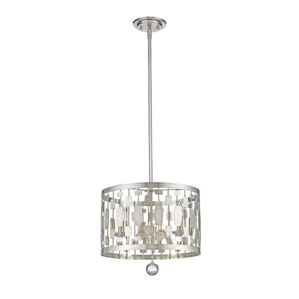 Avery Home Lighting Almet 3-light Pendant in Brushed Nickel - Brushed nickel