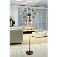 Marguirite 12-light Antique Bronze 16-inch Edison Floor Lamp with Bulbs