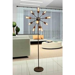 Marguirite 12-light Antique Bronze 16-inch Edison Floor Lamp with Bulbs