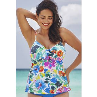 Shore Club Watercolor Tie-Front Underwire Top