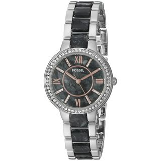 Fossil Women's ES3918 'Virginia' Crystal Two-Tone Stainless Steel Watch