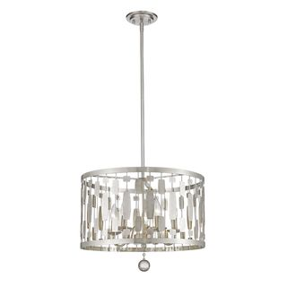 Z-Lite Almet 5-light Pendant in Brushed Nickel