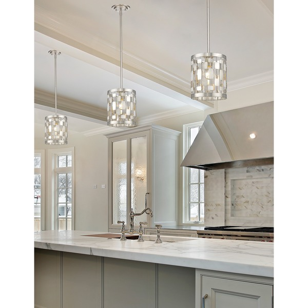 Z-Lite Almet Brushed Nickel 1-light Mini Pendant