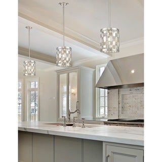 Avery Home Lighting Almet Brushed Nickel 1-light Mini Pendant