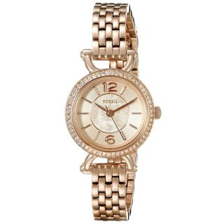 Fossil Women's ES3894 'Georgia Cordell' Crystal Rose-Tone Stainless Steel Watch