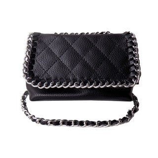 Olivia Miller 'Maddy' Chain Wrapped Quilted Crossbody Handbag