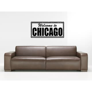 Welcome to Chicago Wall Art Sticker Decal