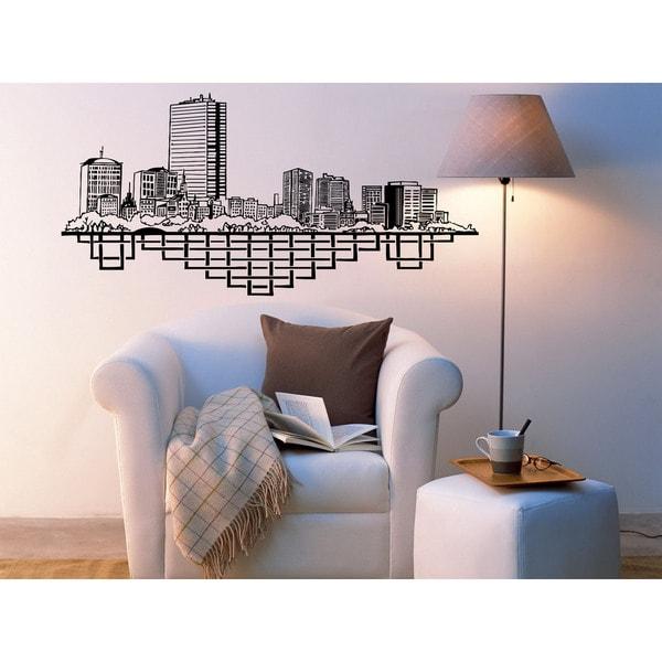 Shop Boston City Street Map Wall Art Sticker Decal Free Shipping