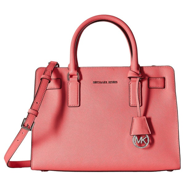 ba8affcf244f Shop Michael Kors Dillon Coral East West Satchel Handbag - Free ...
