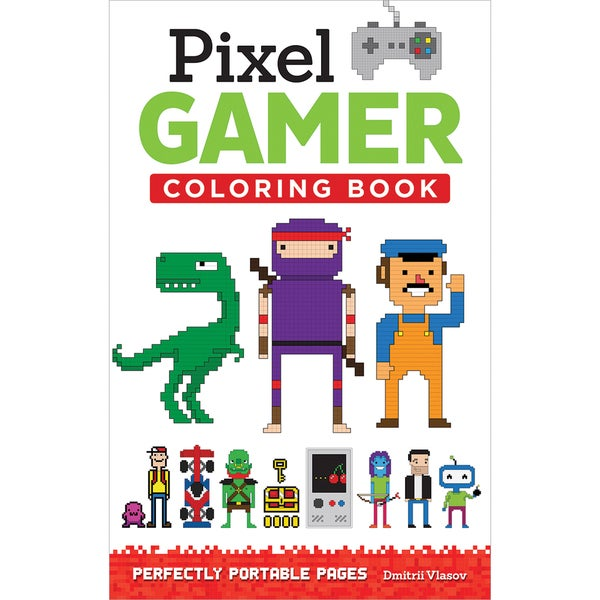 Design Originals Pixel Gamer Coloring Book