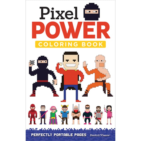Design Originals Pixel Power Coloring Book