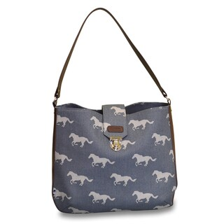 Sloane Ranger Grey Horse Shoulder Bag