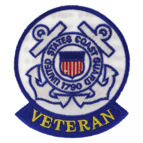 Shop Us Coast Guard Veteran Patch Free Shipping On