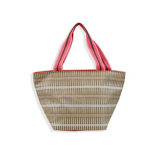 All For Color Khaki Rattan Lunch Bag