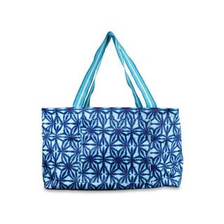 All For Color Indigo Batik Multipurpose Bin/Tote Bag
