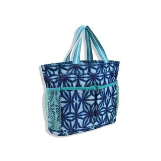 All For Color Indigo Batik Organize-It Tote