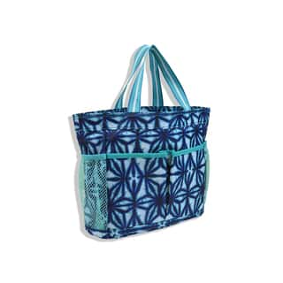 All For Color Indigo Batik Organize-It Tote|https://ak1.ostkcdn.com/images/products/11192741/P18183784.jpg?impolicy=medium