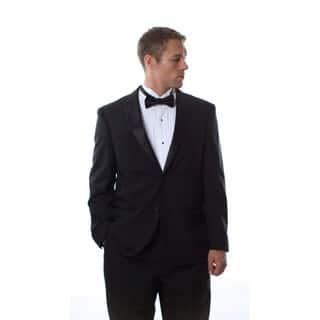 Ferretti Men's Black Wool Tuxedo in Black (42S/ 36W) (As Is Item)|https://ak1.ostkcdn.com/images/products/11192758/P90014799.jpg?impolicy=medium