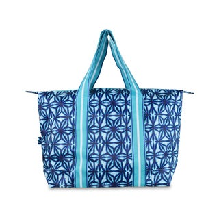 All For Color Indigo Batik Travel Tote