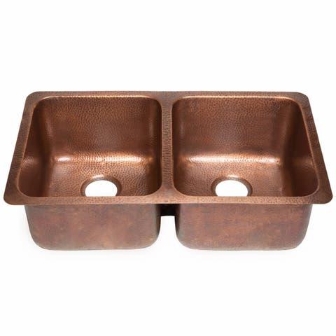 Sinkology Rivera Undermount Kitchen Sink in Antique Copper