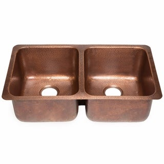 Sinkology Rivera Undermount Kitchen Sink in Antique Copper