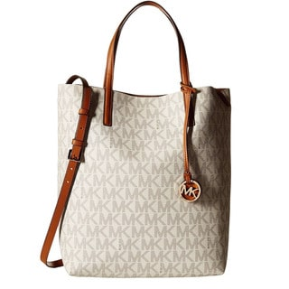 901a4fde1dee Michael Kors Large Hayley Convertible Signature Leather Shoulder Tote Bag